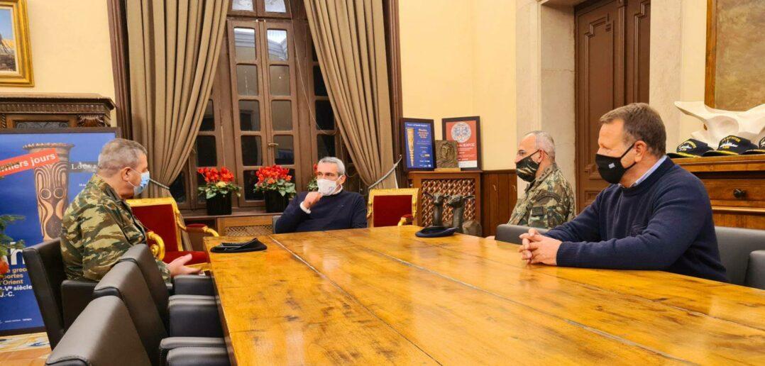 Συνάντηση του Περιφερειάρχη με τον Αρχηγό Γ.Ε.Σ., Αντιστράτηγο Χαράλαμπο Λαλούση