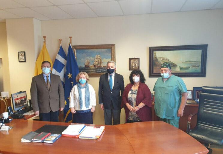 Επίσκεψη του Βασίλη Υψηλάντη στο Γενικό Κρατικό Νοσοκομείο Ρόδου