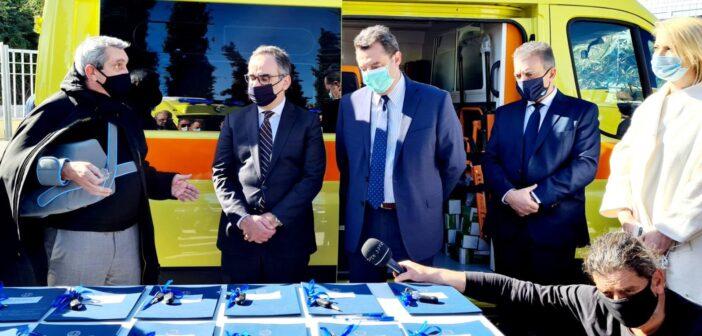 Δώδεκα ασθενοφόρα μικρού όγκου που χρηματοδότησε η Περιφέρεια, παραδόθηκαν στα μικρονήσια του Νοτίου Αιγαίου