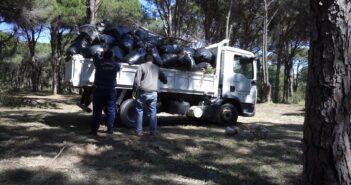 καθαρισμός άλσους Καλλιθέας απο την Περιφέρεια Νοτίου Αιγαίου