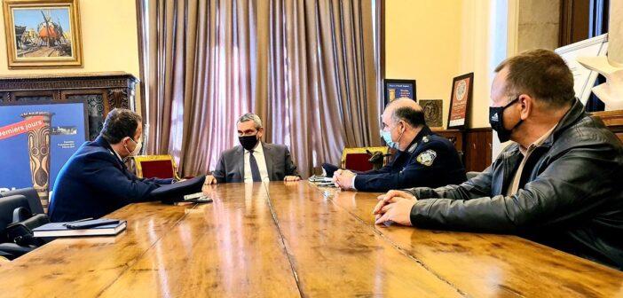 Συνεργασία του Περιφερειάρχη με τον νέο Περιφερειακό Αστυνομικό Διευθυντή Νοτίου Αιγαίου, Υποστράτηγο Εμμανουήλ Δουρβετάκη