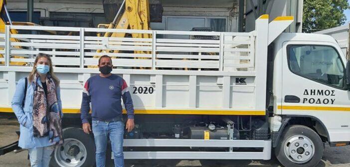 κοινότητα Ιαλυσού ανοικτό φορτηγό Στεφανία Στάγκα