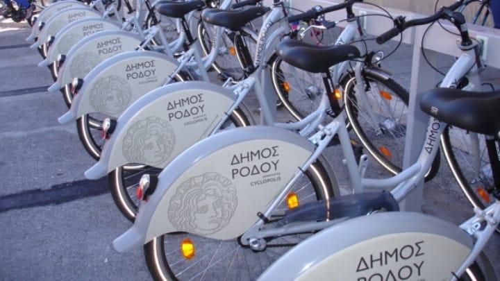 Κοινόχρηστα ποδήλατα δήμος Ρόδου