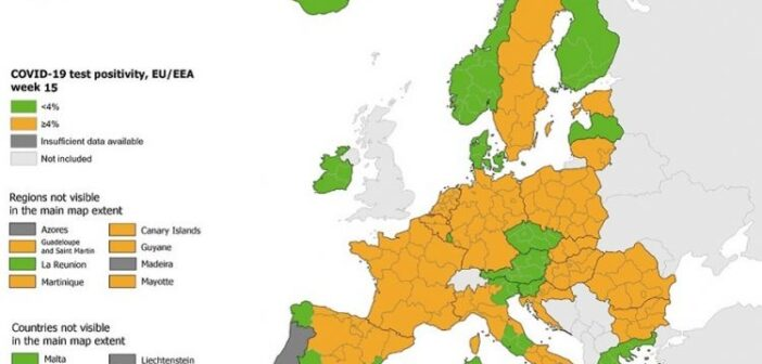 """Χάρτης ECDC: Ξανά στο """"πράσινο"""" η Ελλάδα"""