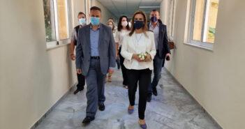 Ζωή Ράπτη Υφυπουργός Υγείας στο Νοσοκομείο Ρόδου