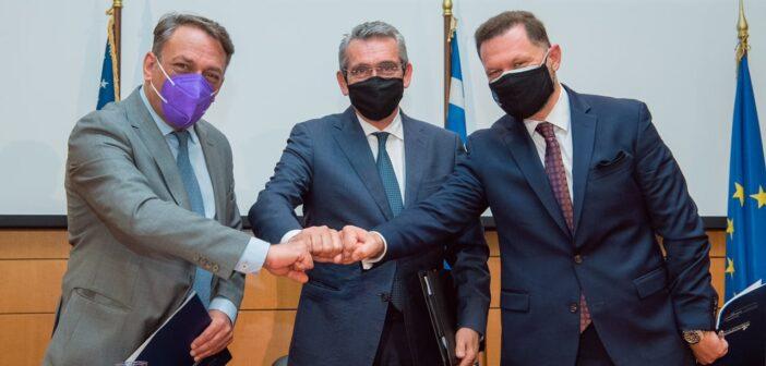 Χατζημάρκος Υπογραφή Μνημονίου Συνεργασίας μεταξύ Περιφέρειας Ν. Αιγαίου, Cisco και ΟΝΕΧ