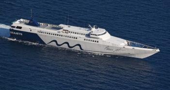 Tο Paros Jet στη γραμμή Σητεία -Κάσος-Κάρπαθος-Διαφάνι-Χάλκη-Ρόδος