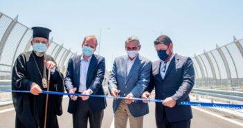 Εγκαινιάστηκε σήμερα η γέφυρα του ποταμού Μάκαρη, στη Ρόδο, έργο που συνέβαλε στον θεσμικό εκσυγχρονισμό της Πολιτικής Προστασίας.