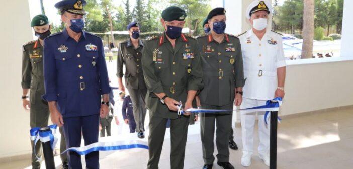 Παρουσία αρχηγού ΓΕΕΘΑ τα εγκαίνια του στρατοπέδου «Υποστράτηγου Χριστόδουλου Τσιγάντε»
