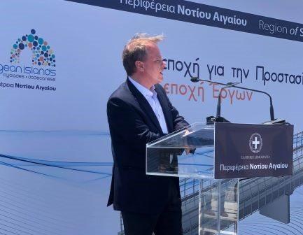 """Τη δημοπράτηση του νέου Oδικού Άξονα """"Ρόδος-Aεροδρόμιο"""" ανακοίνωσε από τη Ρόδο ο K. Αχ. Καραμανλής α"""