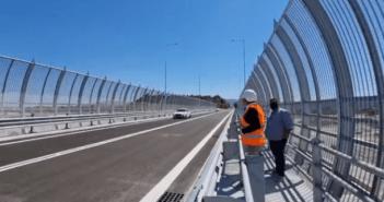 Παραδόθηκε στην κυκλοφορία η νέα γέφυρα στο Χαράκι