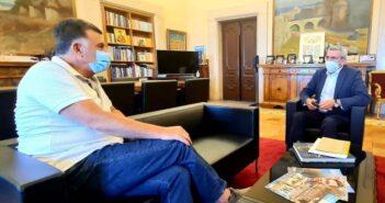 Συνάντηση εργασίας του Περιφερειάρχη Ν. Αιγαίου με τον Δήμαρχο Κω Θεοδόση Νικηταρά