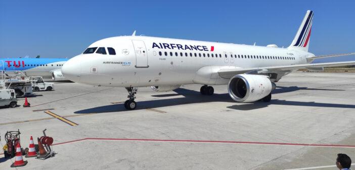 Την πρώτη της πτήση στη Ρόδο πραγματοποίησε η Air France