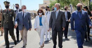 Στην Κάλυμνο στις εκδηλώσεις για τη Ναυμαχία του Γέροντα η Πρόεδρος της Δημοκρατίας