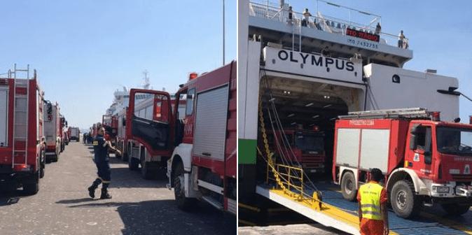 Ενισχύονται οι πυροσβεστικές δυνάμεις στο νησί της Ρόδου