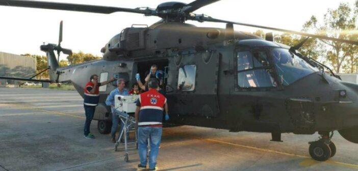 Μεταφορά 8 ασθενών από νησιά με πτητικά μέσα της Πολεμικής Αεροπορίας