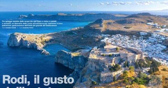 Ιταλικό περιοδικό Bell' Europa: Αφιέρωμα- ύμνος στη γαστρονομία της Ρόδου