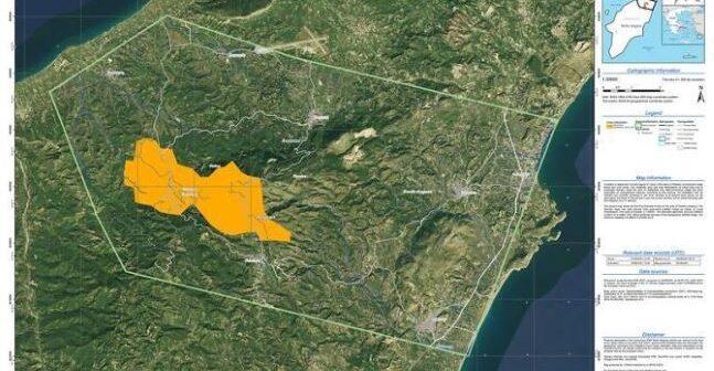 Ενεργοποίηση της Υπηρεσίας Copernicus/Emergency Management Service – Mapping της Ε.Ε. για την άμεση χαρτογράφηση της περιοχής της Ρόδου που επλήγη από δασική πυρκαγιά