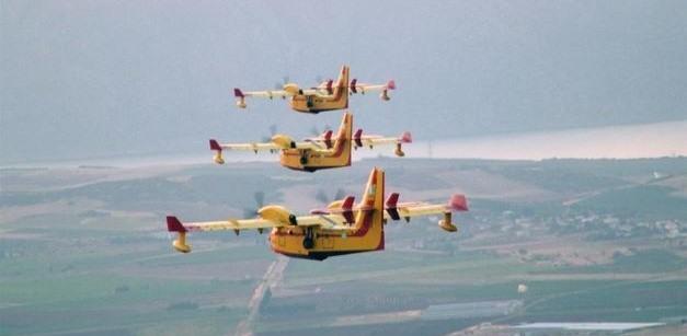 Εναέριες περιπολίες με πυροσβεστικά αεροσκάφη