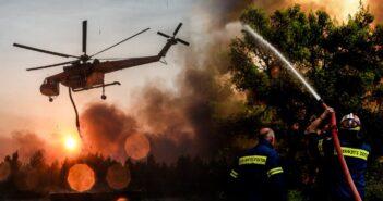 Φωτιά στην Κάρπαθο: Μάχη με τις φλόγες για δεύτερη ημέρα Στο σημείο επίγεια και εναέρια μέσα.