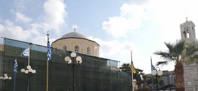 Ξεκίνησαν οι εργασίες στεγάνωσης της οροφής στον ΙΝ Σωτήρος Χριστού στην Πόθια