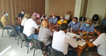 Σύσκεψη στο ΕΚΡ για το ζήτημα του κριτηρίου της εντοπιότητας στις προσλήψεις μόνιμου προσωπικού της Δ.Ε.Η στους σταθμούς παραγωγής Σορωνής και Κατταβιάς.