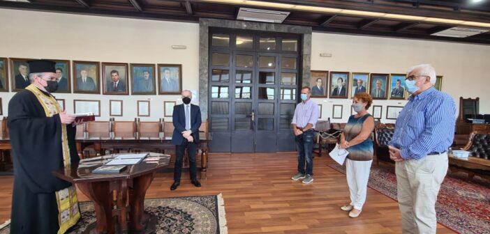 """Α.Καμπουράκης : """"Καλωσορίζουμε τον νέο Πρόεδρο της Δημοτικής Κοινότητας Παραδεισίου Κυριάκο Μαλιωτάκη, καθώς και το νέο μέλος της Μαρία Σαραντώνη"""""""