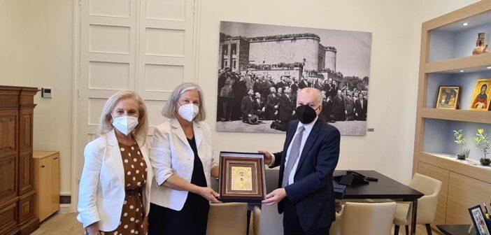 Η Πρέσβης της Αυστρίας επισκέφθηκε τον Δήμαρχο Ρόδου