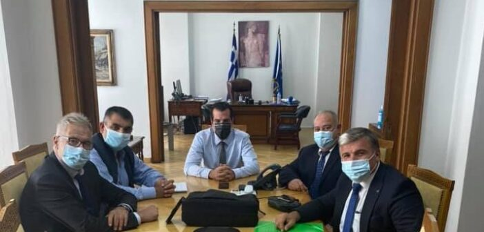 Συνάντηση αντιπροσωπείας του Δήμου Ρόδου με τον Υπουργό Υγείας Θάνο Πλεύρη για το Νοσοκομείο