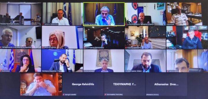 Έκτακτη τηλεδιάσκεψη Στυλιανίδη με τους 13 Περιφερειάρχες της χώρας μετά το έκτακτο δελτίο επιδείνωσης που εξέδωσε η ΕΜΥ. Οι προτεραιότητες και οι συστάσεις.